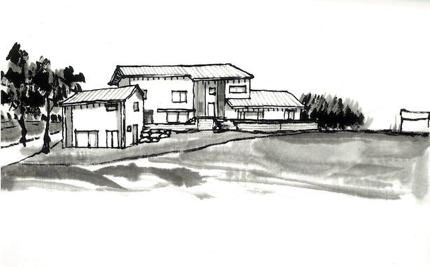 Sketch 3 - south elevation 2