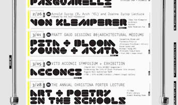 Get Lectured: Pratt Institute, Spring '18