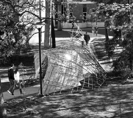 Slipstream Pavilion at The Pennsylvania State University , designed by PSU DigiFAB (Photos/Drawings courtesy of David A. Palmieri)