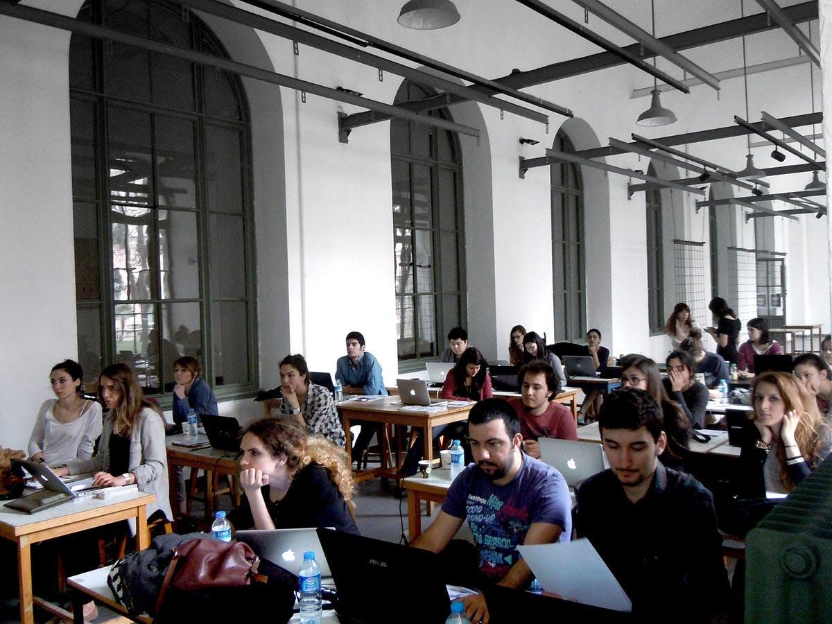 Processing Tutorials During AA Istanbul 2013 Photo Elif Erdine
