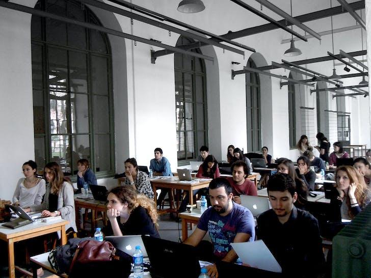 Processing tutorials during AA Istanbul 2013. Photo: Elif Erdine