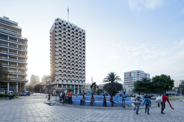 Henri Chomette and Roland Depret, Hotel Independence, 1973-78, Dakar (Senegal). Photo © Iwan Baan.