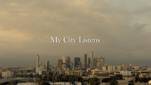 "GRAND PRIZE WINNER: ""My City Listens"" by Andrew Jeric and Soha Momeni."