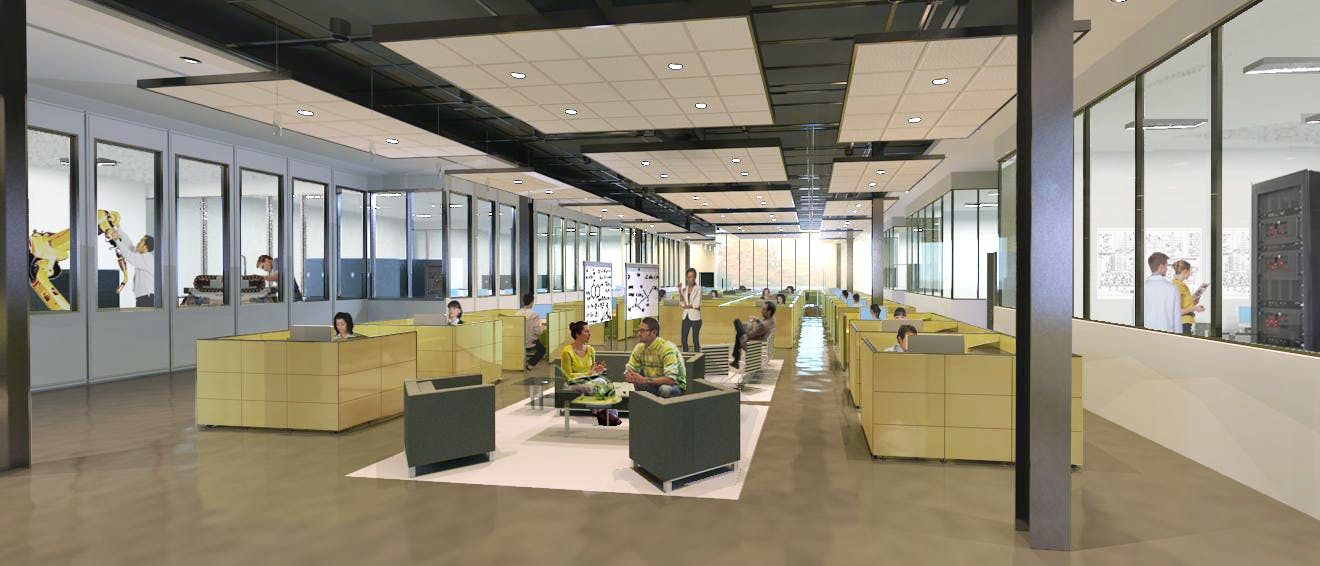 Open office collaboration area concept vanessa conyers for Office design concepts and needs