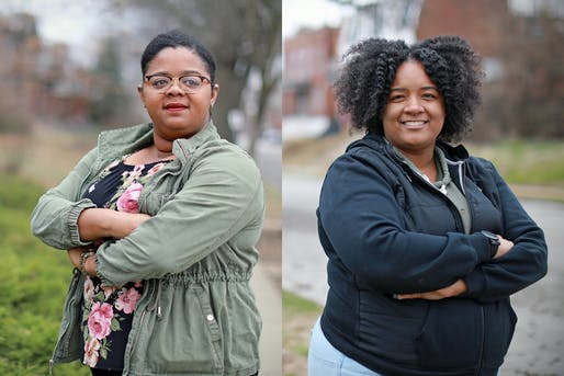 Left: Cierra Higgins in Shaw. Right: Tianna Williams in Dutchtown. Photos: James Byard/Washington University.