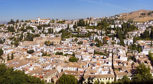 The Albayzín neighborhood in Granada, Spain, which has a multitude of cypress trees that might be a culprit to Granada's pollen-laden air. Photo: Bert K. via Wikipedia.