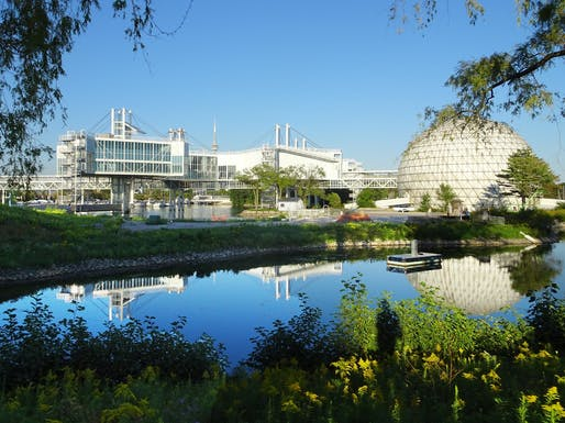 Toronto's Modernist Ontario Place site is the subject of a new call for counterproposals (see below for details). Design by architect Eberhard Zeidler and landscape architect Michael Hough. Photo by Flickr user Sharon VanderKaay.