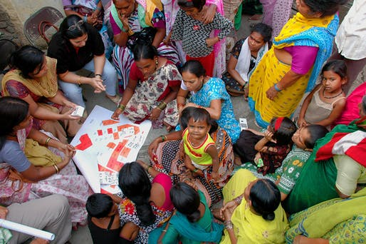 Shack/Slum Dwellers International: Yerwada Slum Upgrading Project. SPARC Samudaya Nirman Sahayak (SSNS) and Pune Municipal Corporation, with SPARC (Society for the Promotion of Area Resource Centres), NSDF (National Slum Dwellers' Federation), and Mahila Milan, Shack/Slum Dwellers International (SDI) affiliates. Yerwada slum, Pune, India, 2008-present. Photo: © SDI