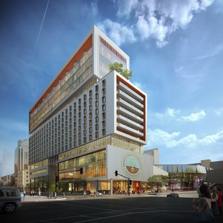 Sacramento Downtown Commons. Rendering: Rios Clementi Hale Studios.