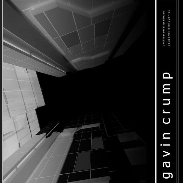 The cover of my student portfolio