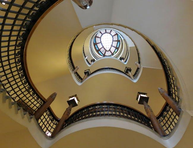 Eliel Saarinen staircase in Finnish National Romantic style