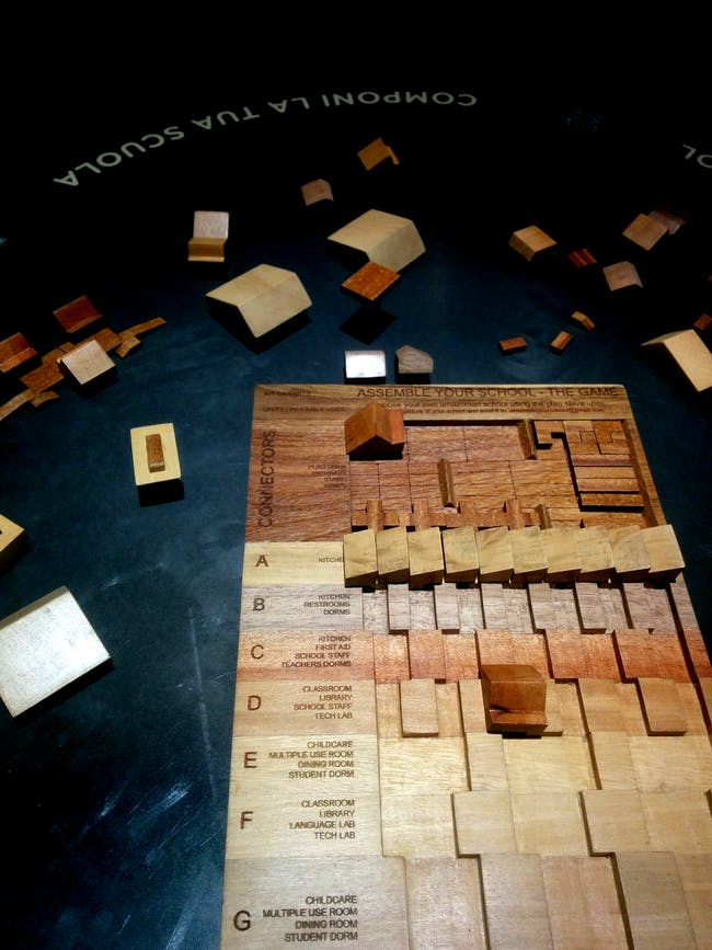 Design your own school, part of 'Our Amazon Frontline', the Peru Pavilion at the Venice Biennale. Photo by Laura Amaya.