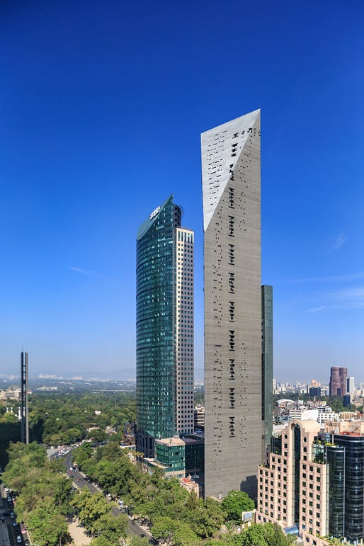 Torre Reforma in Mexico City, Ciudad de Mexico, Mexico by L. Benjamin Romano. Photo: Alfonso Merchand Frias.
