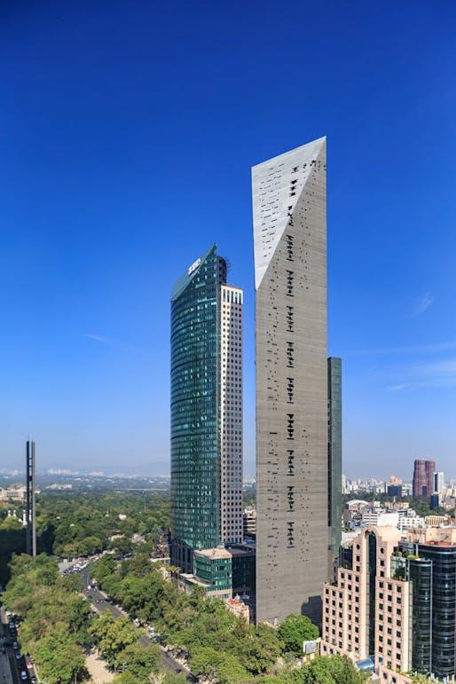 Torre Reforma in Mexico City, Ciudad de Mexico, Mexico by L. Benjamin Romano. Photo: Alfonso Merchand Frias.
