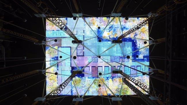 Losing Myself, projection from above. The Irish Entry to La Biennale di Venezia 2016. Image © Lez Barker ArtAV.