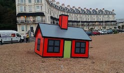 Tiny, cartoonish homes by artist Richard Woods pop up in British seaside town