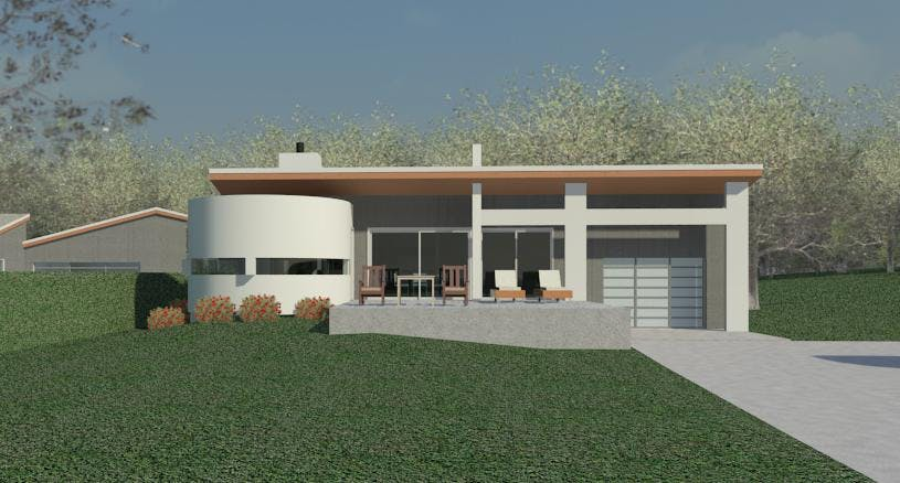 Silo house design clifford o reid nys architect for Silo home designs