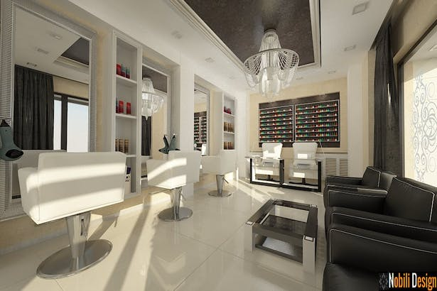 Amenajare Salon De Infrumusetare Design Interior Salon Coafor
