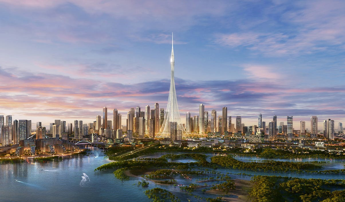 Calatrava S Megatall Dubai Creek Tower Completes Design Development