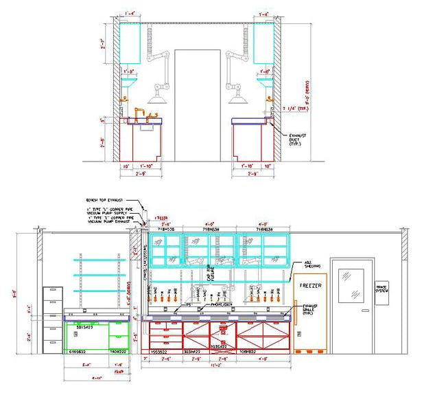 Lab fit-out coordination drawing