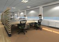 Modern Commercial Office Interior 3d Rendering
