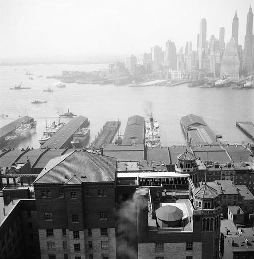 View of Lower Manhattan from the St. George Hotel in Brooklyn Heights, April 3, 1935; Photo by Department of Parks and Recreation