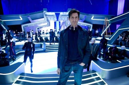 Joseph Kosinski on the set of TRON: Legacy