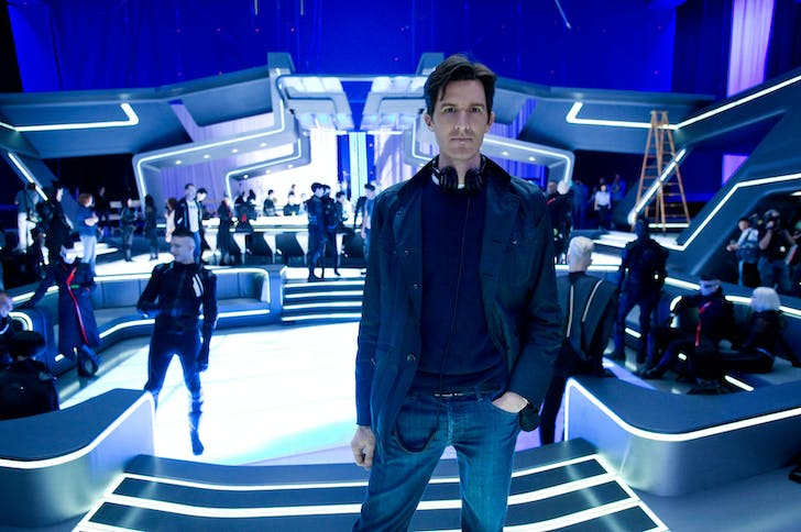 Joseph Kosinski on the set of TRON: Legacy