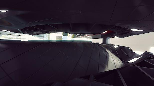 Outdoor mezzanine between Level 4 and Level 5