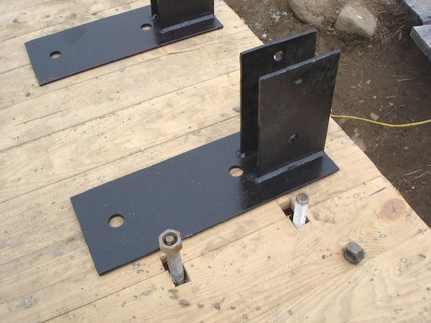 Steel Baseplate for triple 2x6 columns