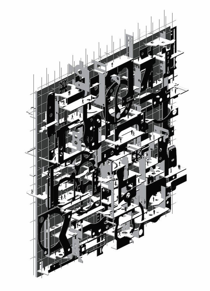 Stonehenge Reliquary: 'Axonometric' by Manuel Zermeno.