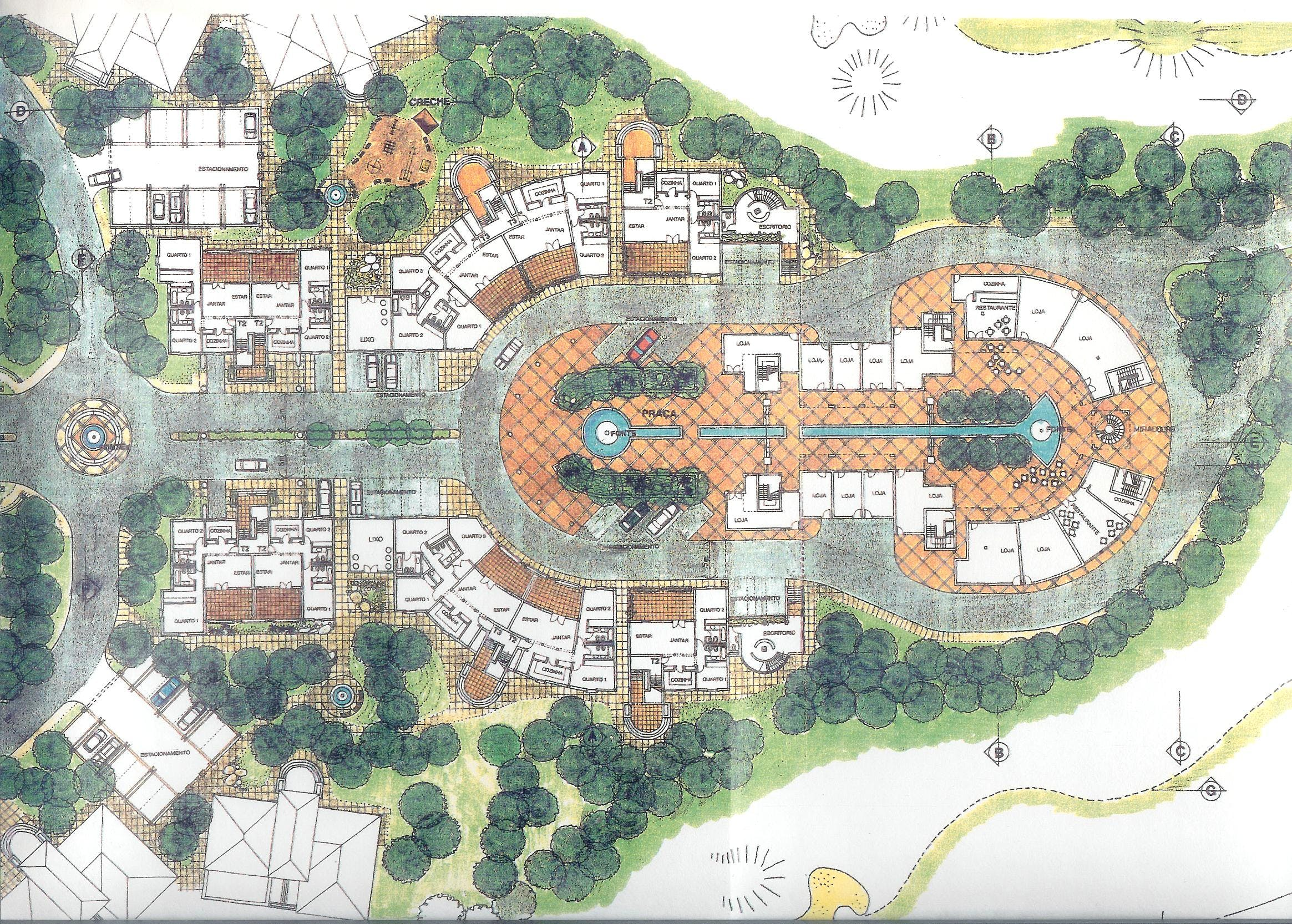 Master plan for a urban design golf course touristic for Design hotel 5 star