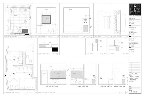 Enlarged Bathroom area- My sample drafting
