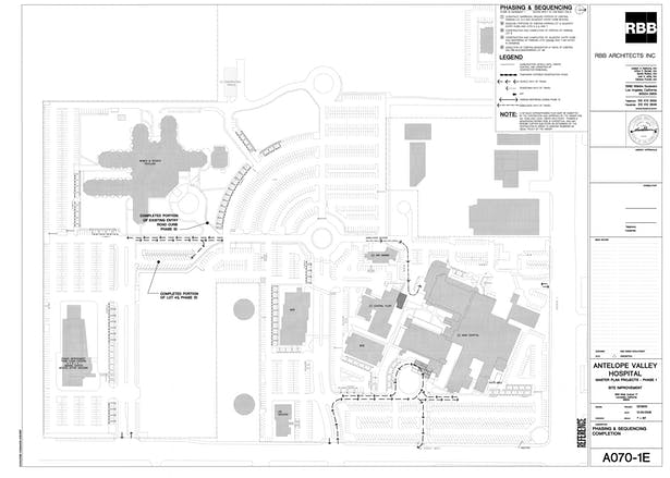 Antelope Valley Hospital Master Plan Projects Phase 1, Site Improvement Phasing & Sequencing, Phase 1E