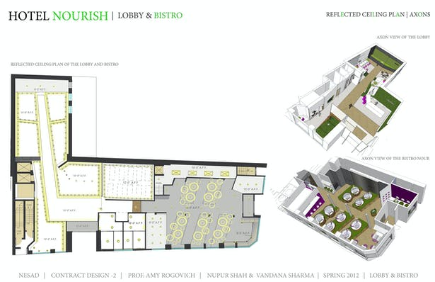 Reflected Ceiling plan- Lobby and bistro