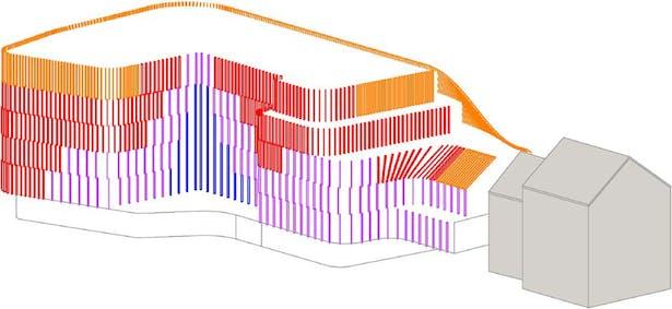 Solar radiation analysis - Back facade