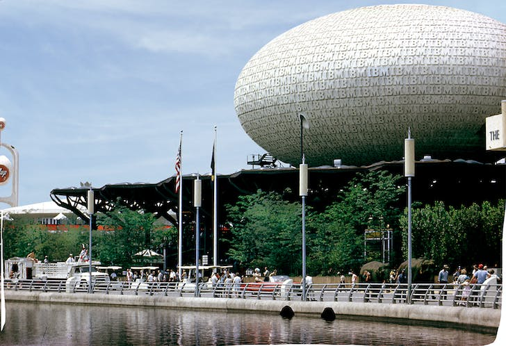 IBM Pavilion for the 1964 World's Fair. Courtesy of Kevin Roche John Dinkeloo and Associates LLC