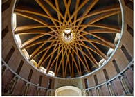 Elliptical dome of Laboral's Church