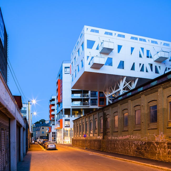 "Støperiet ""The iron foundry"" in Bergen, Norway by Link Arkitektur; Photo: Hundven-Clements Photography"