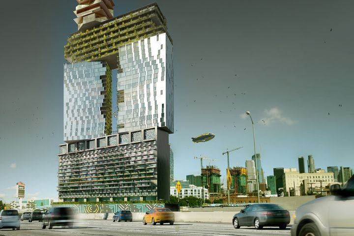 gensler s proposed mixed use downtown los angeles tower to