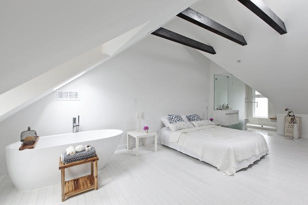 Master bedroom & open ensuite [converted attic]