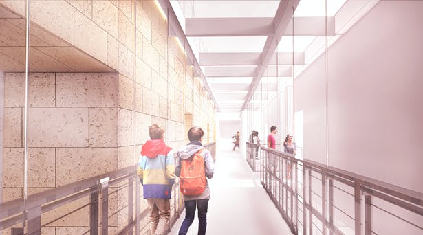 Interior Perspective on Suspended Walkway
