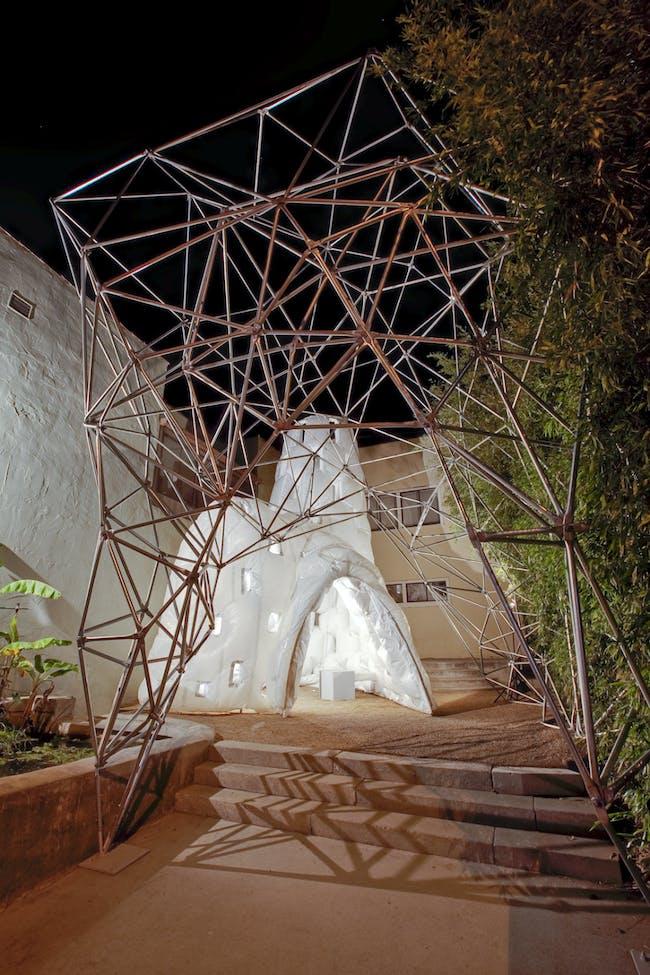 'Light Frames' by Gail Peter Borden. Photo via emanate.org.