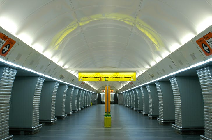 Andel Metro station, Prague, Czech republic.