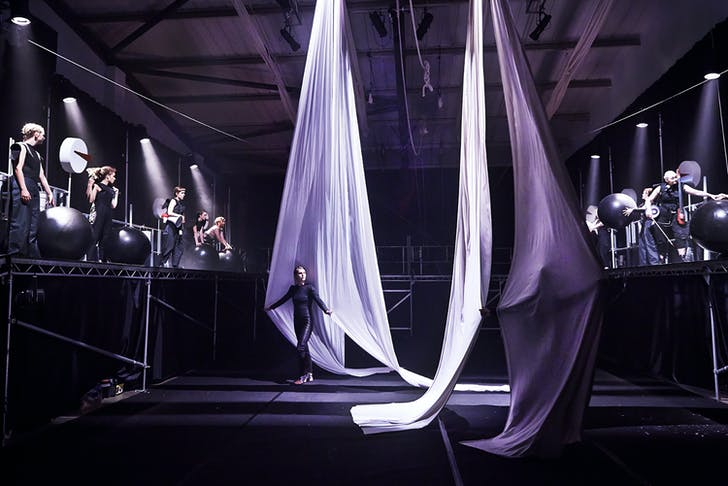 Performance of 'Leviathan' at Hackney Showroom (theater in Hackney Downs Studio). Photo by Living Structures. Image courtesy of CBD.