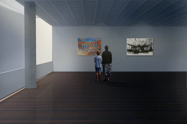 Perspective of Rotating Gallery