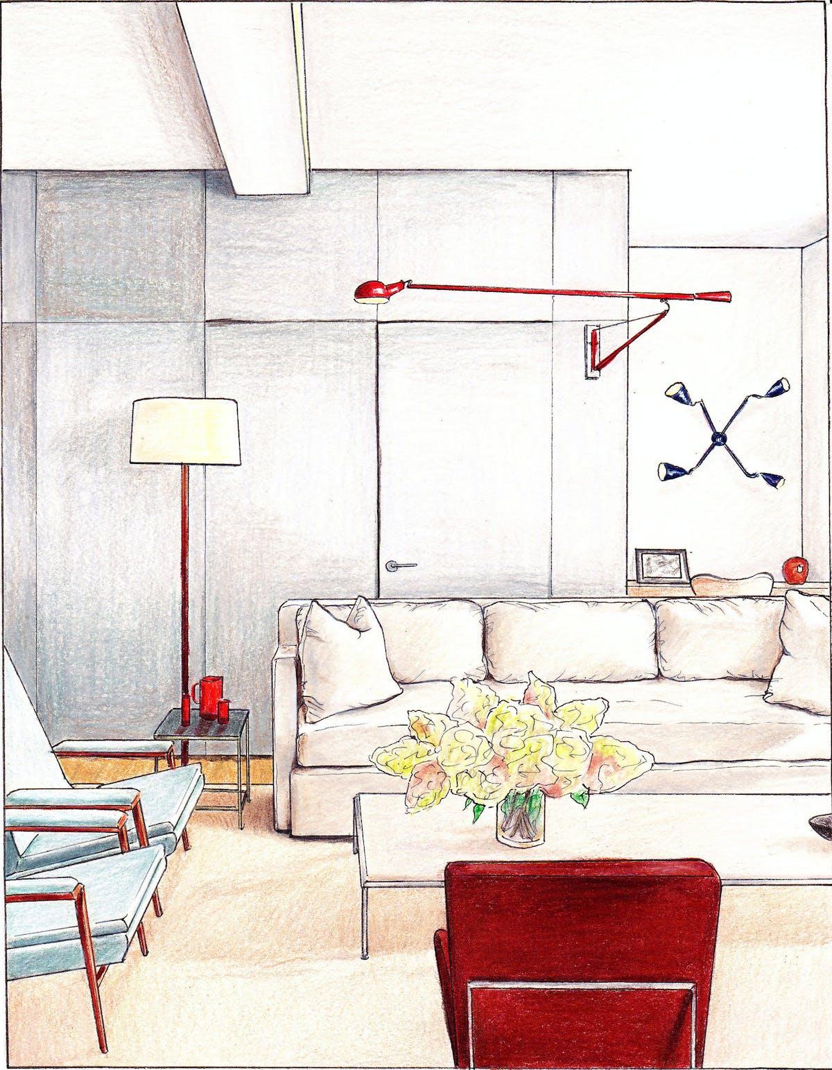 Living Room Interior Design Pdf: Interior Drawings