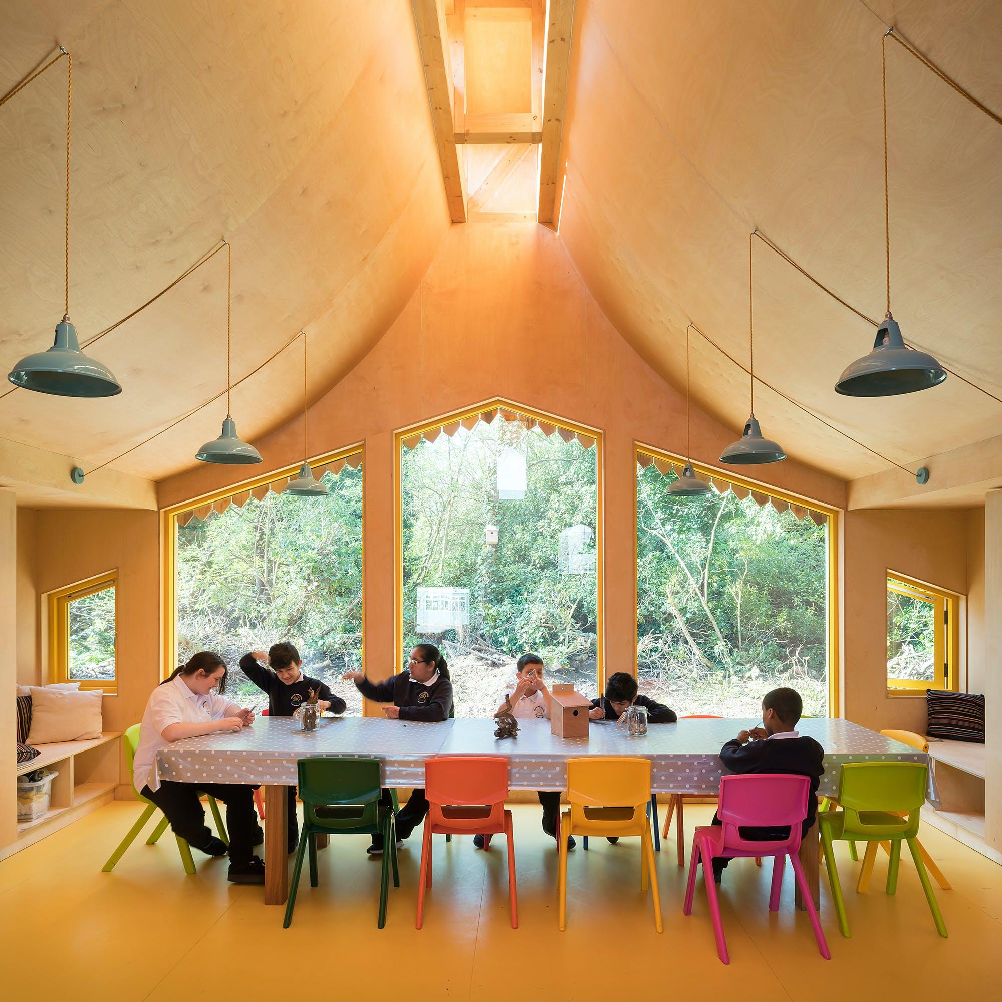 Belvue School Woodland Classrooms London by Studio Weave Ltd Jim Stephenson