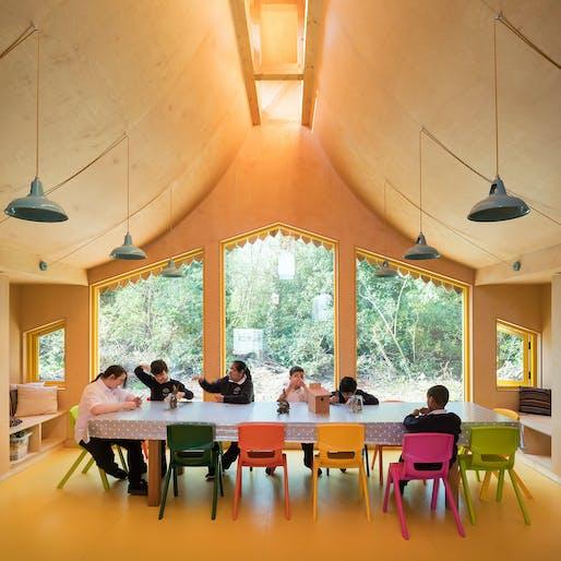 Belvue School Woodland Classrooms, London by Studio Weave Ltd. Photo: Jim Stephenson.