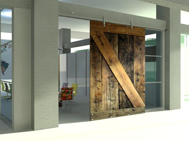 Salvaged wood door (3Dmax rendering)